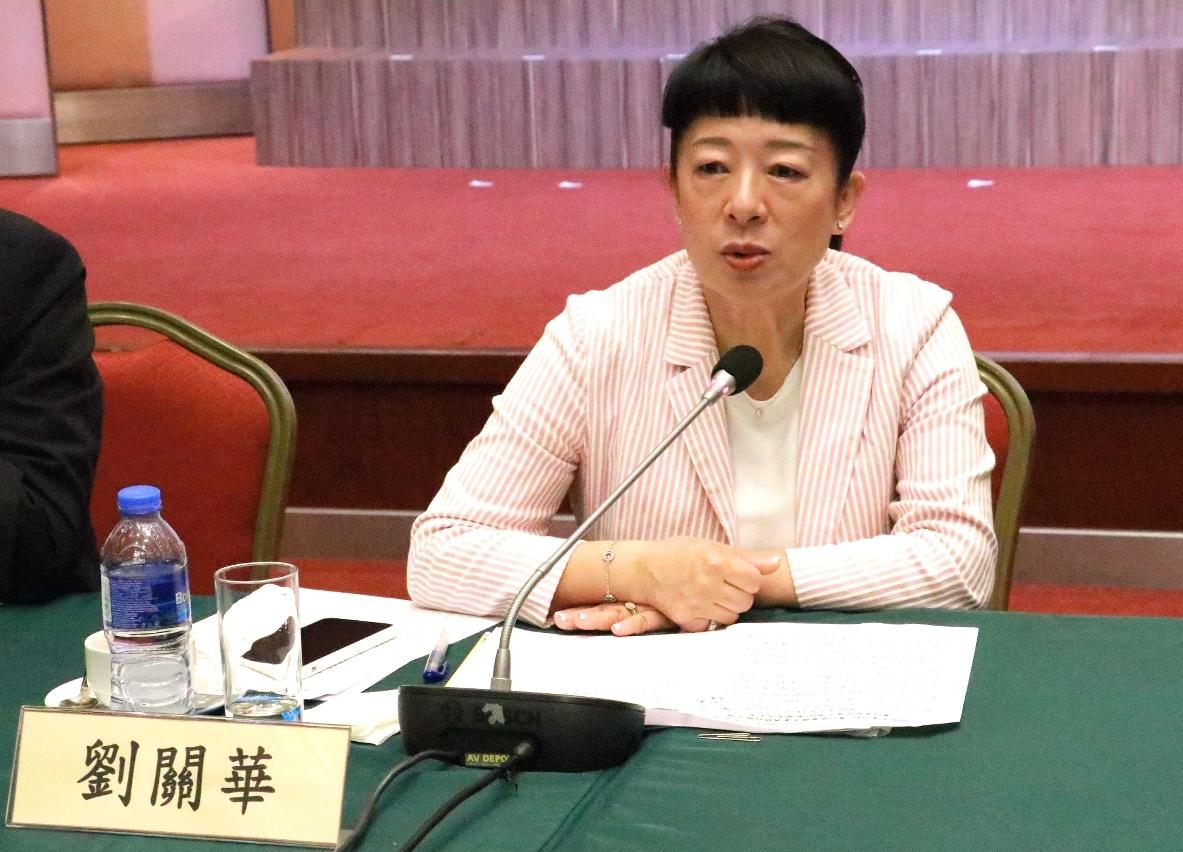 澳门贸易投资促进局代主席刘关华于会上发言
