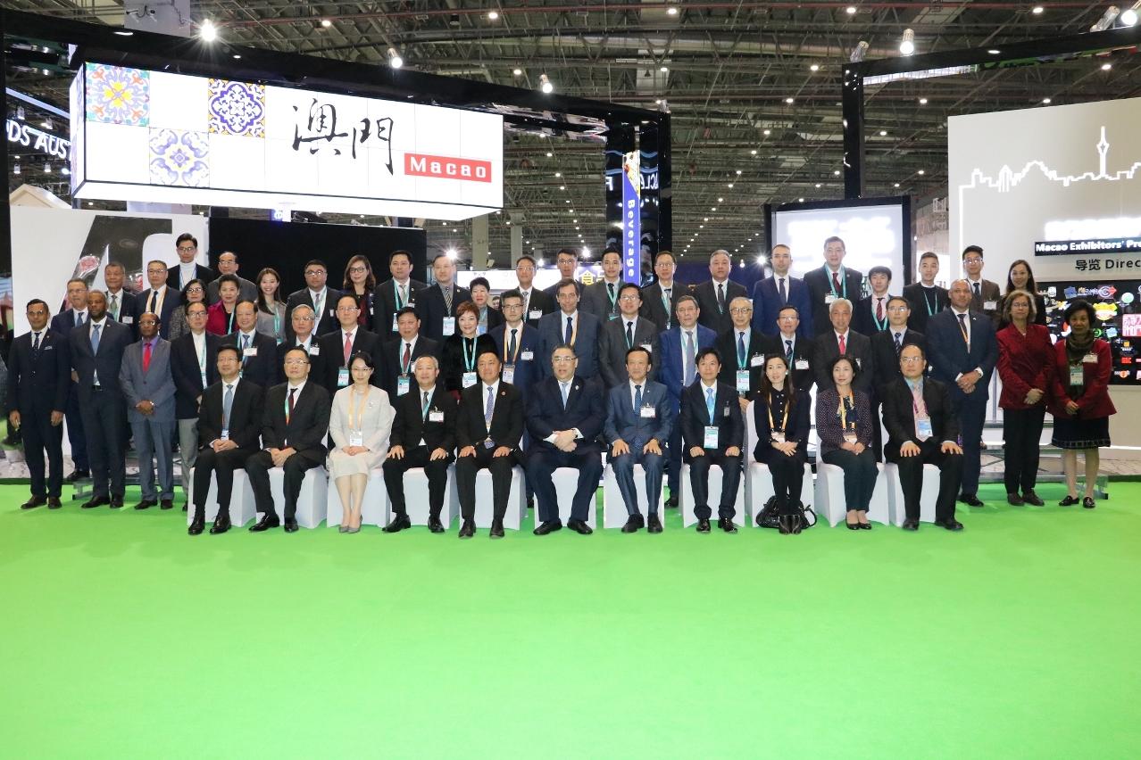 """貿促局在去年組織澳門企業參與""""中國國際進口博覽會"""""""