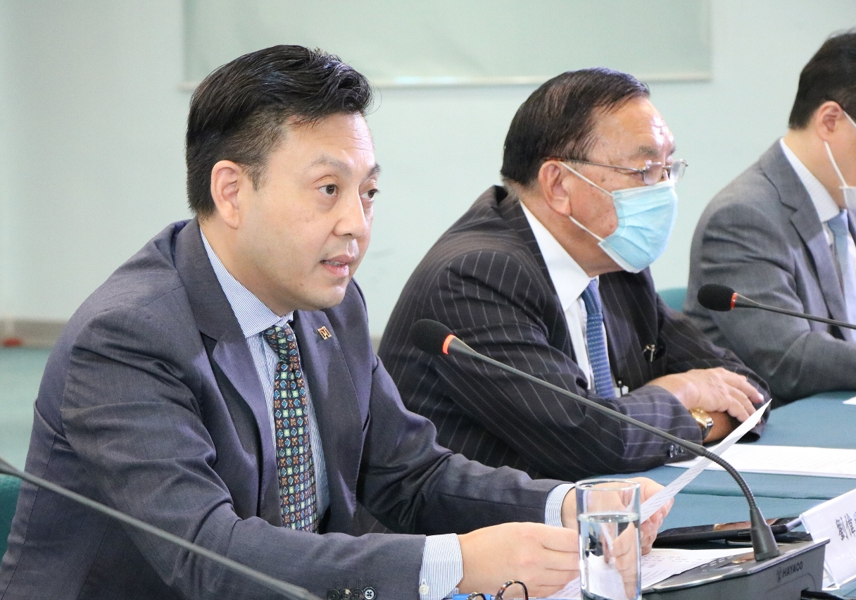 澳門貿易投資促進局主席劉偉明於會上致辭