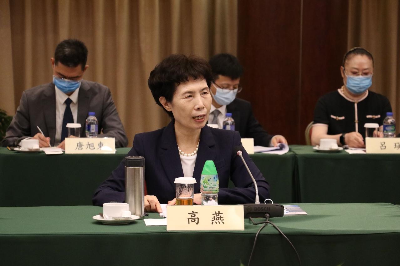 中國國際貿易促進委員會會長高燕於會上致辭