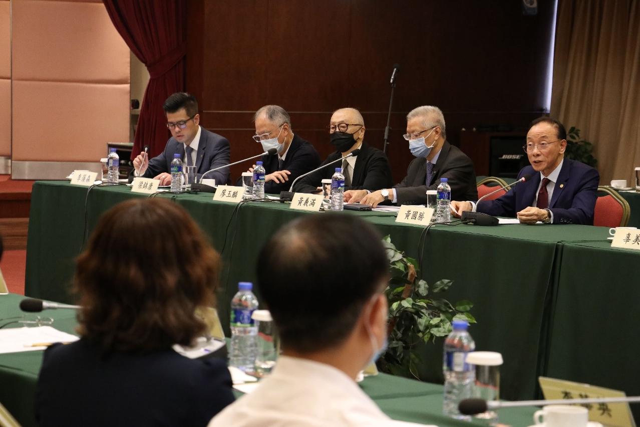 兩地貿促機構、商會的領導和代表積極發表意見