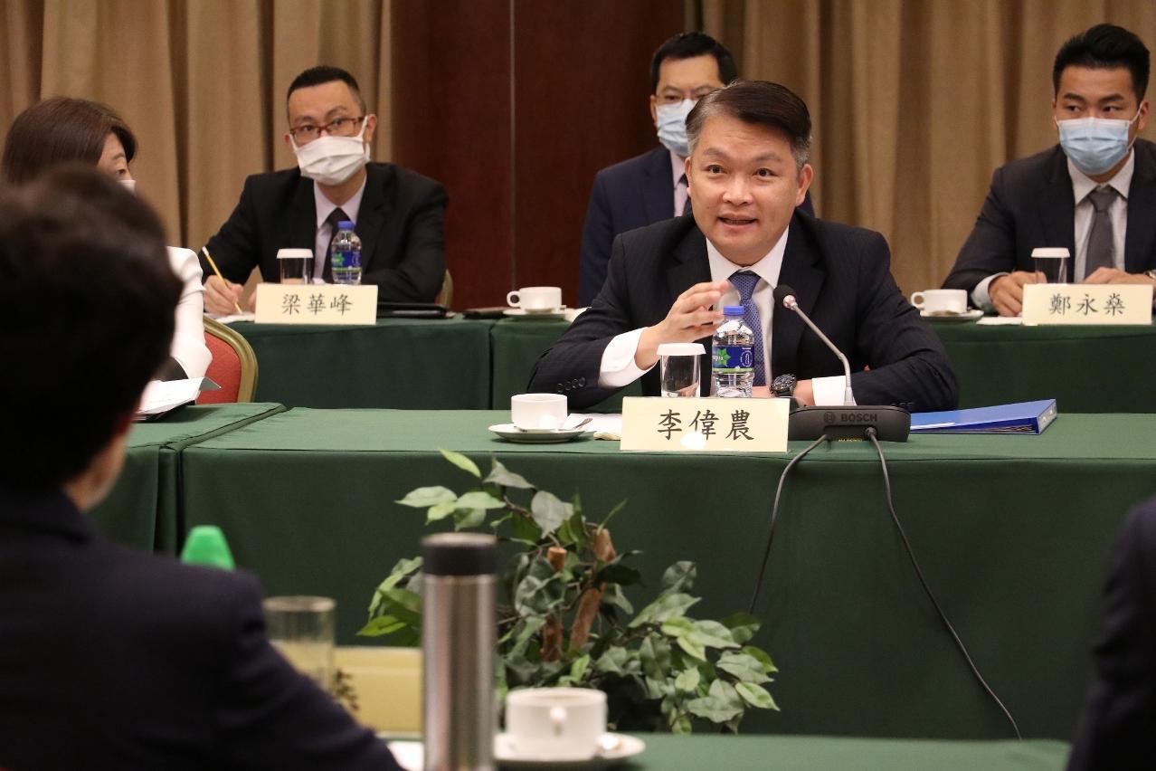 經濟財政司司長李偉農於會上致辭