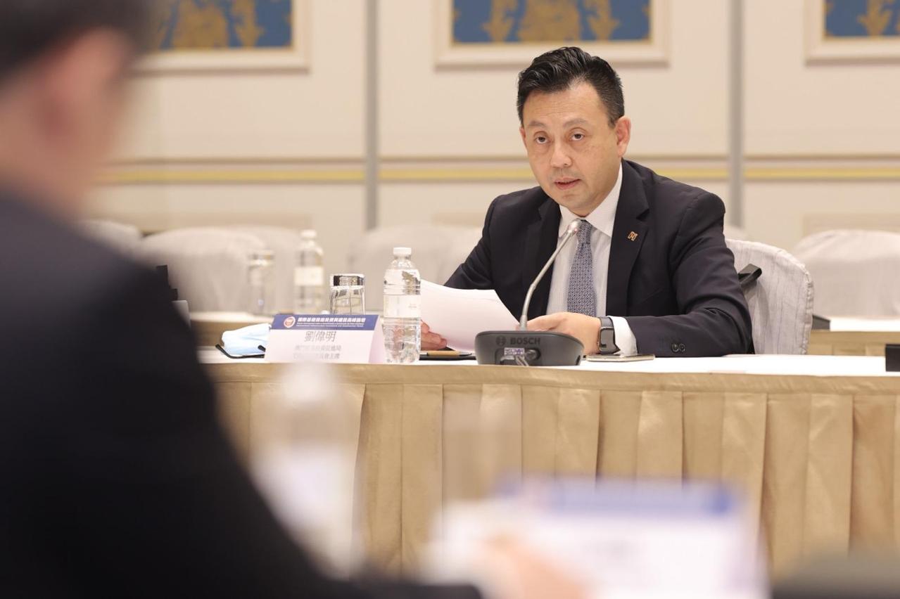 澳門貿易投資促進局主席劉偉明在會上發言